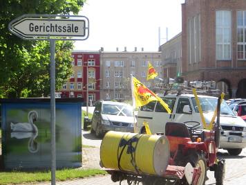 Die Demo zum Landgericht Stralsund war auch diesmal musikalisch begleitet.